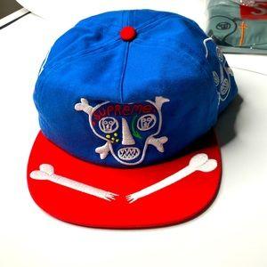 Supreme 5 Panel Canvas Skulls SnapBack Hat Cap